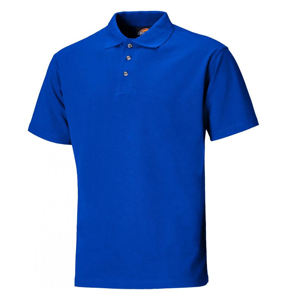 Dickies Sh21220 Three button Polo Shirt Royal Blue