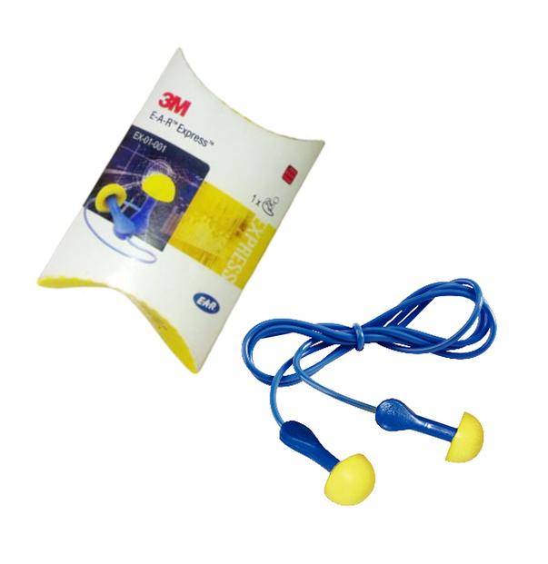 3M EAR Express EX01001 Reusable Earplugs Corded SNR 28dB One Pair