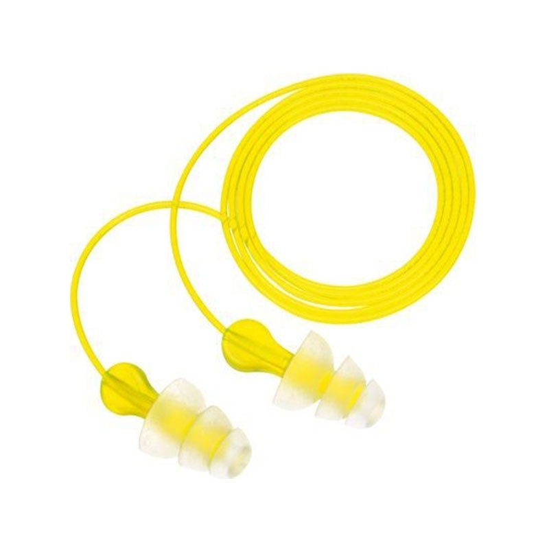 3M PN-01-005 E-A-R Tri-Flange Earplugs Corded SNR=29dB One Pair