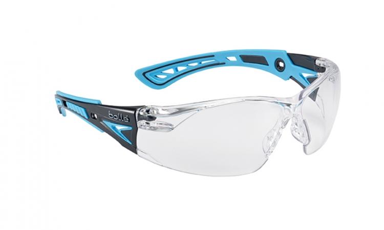 Bollé RUSHPPSIB Rush+ Safety Glasses Clear Polycarbonate Lens