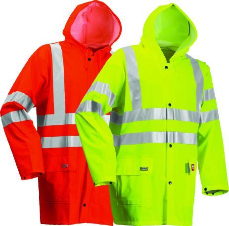 Lyngsoe HI VIS Flame Retardant Rain Jacket FR-LR55 - Orange or Yellow