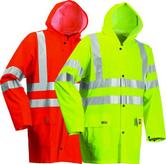 Lyngsoe HI VIS Flame Retardant Rain Jacket FR-LR55 - Orange or Yellow