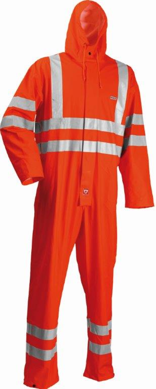 Lyngsoe HI VIS Orange Coverall Microflex Reflective Tape FR LR57-05