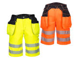 Portwest PW343 Men High Visibility Work Shorts With Holster Pockets