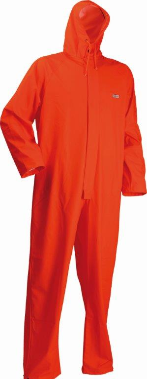 Lyngsoe LR13-05 Microflex Waterproof Hi Vis Rain Coverall - Orange