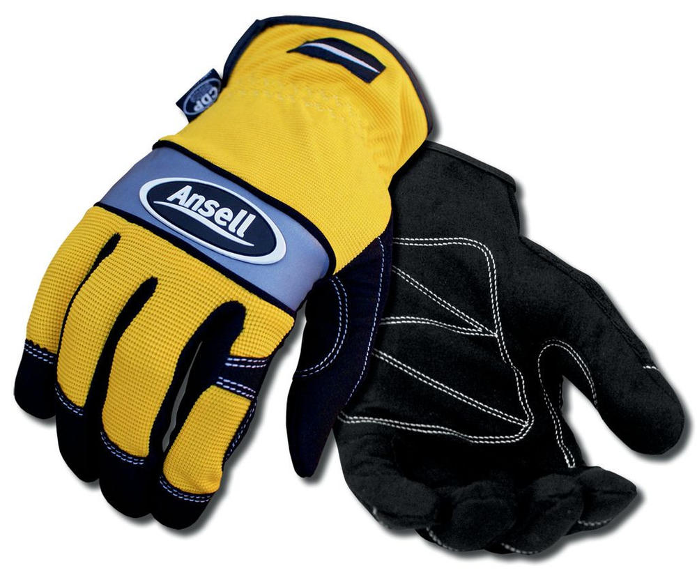 Ansell 97-509 Projex® Light Duty Work Gloves Leather Palm Yellow Size 10