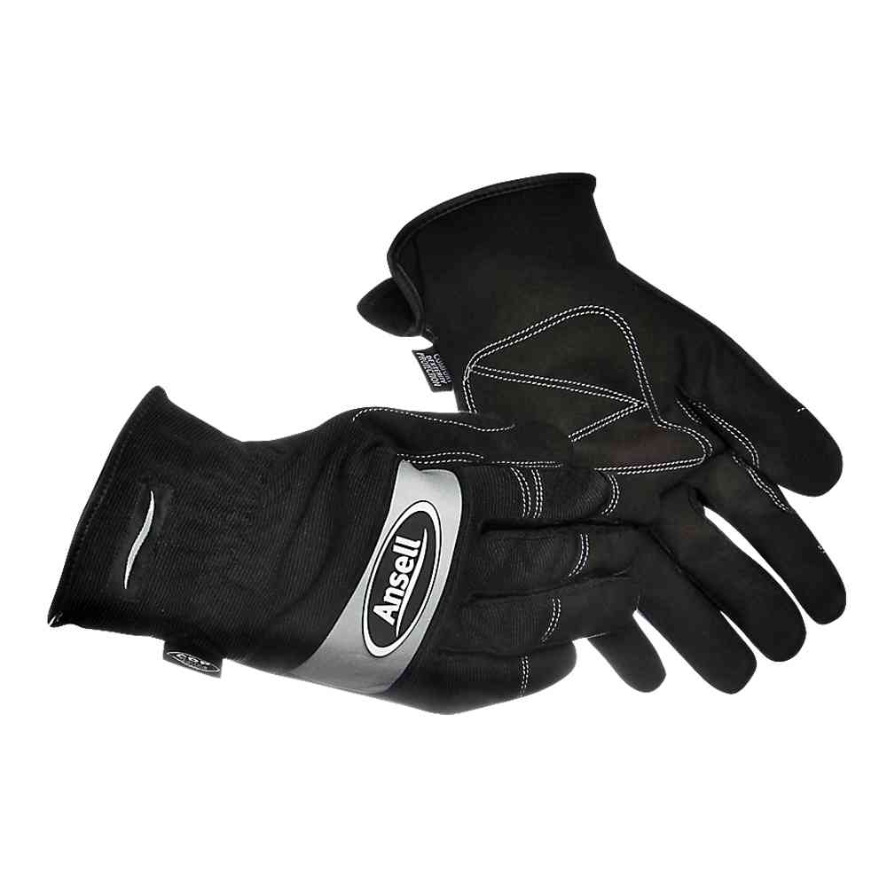 Ansell 97-506 Projex® Light Duty Work Gloves Leather Palm Black