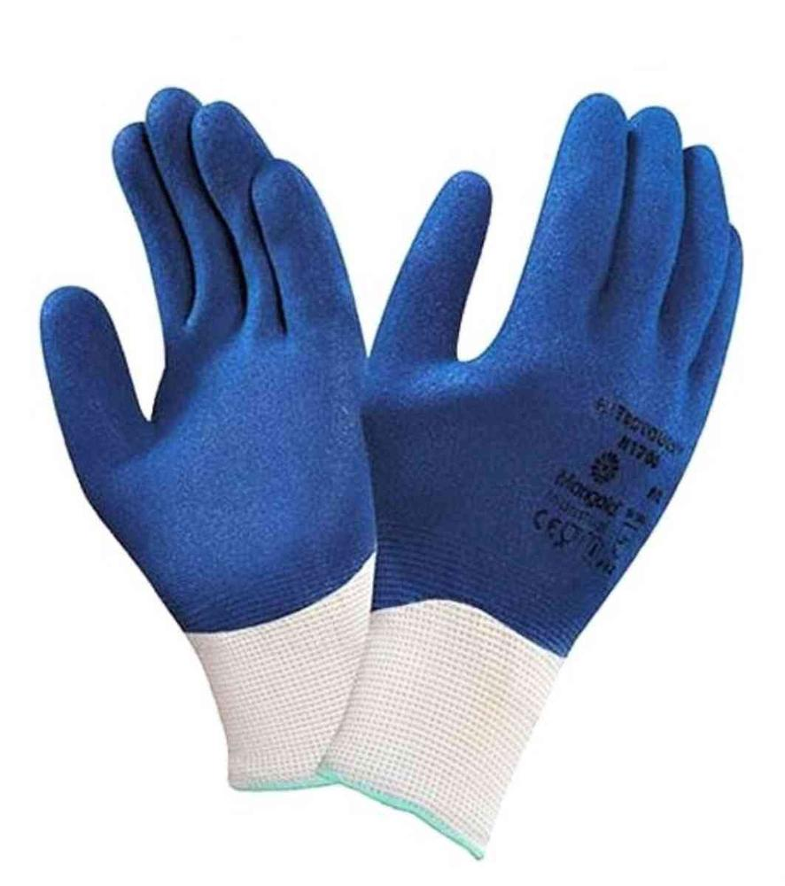 Marigold Nitrotough N1700 Work Gloves Nitrile Fully Coated Blue