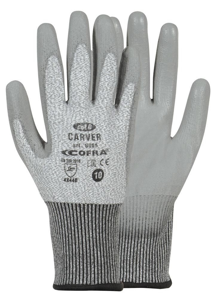 Cofra Carver Work Gloves Cut Resistant Level 5 PU Coating