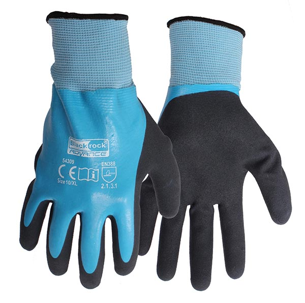 Blackrock 54309 Watertite Grip Work Gloves Waterproof Blue