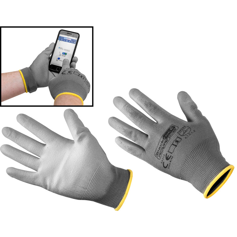 Blackrock 54312 Smart Touch Work Gloves PU Coated Touchscreen Friendly
