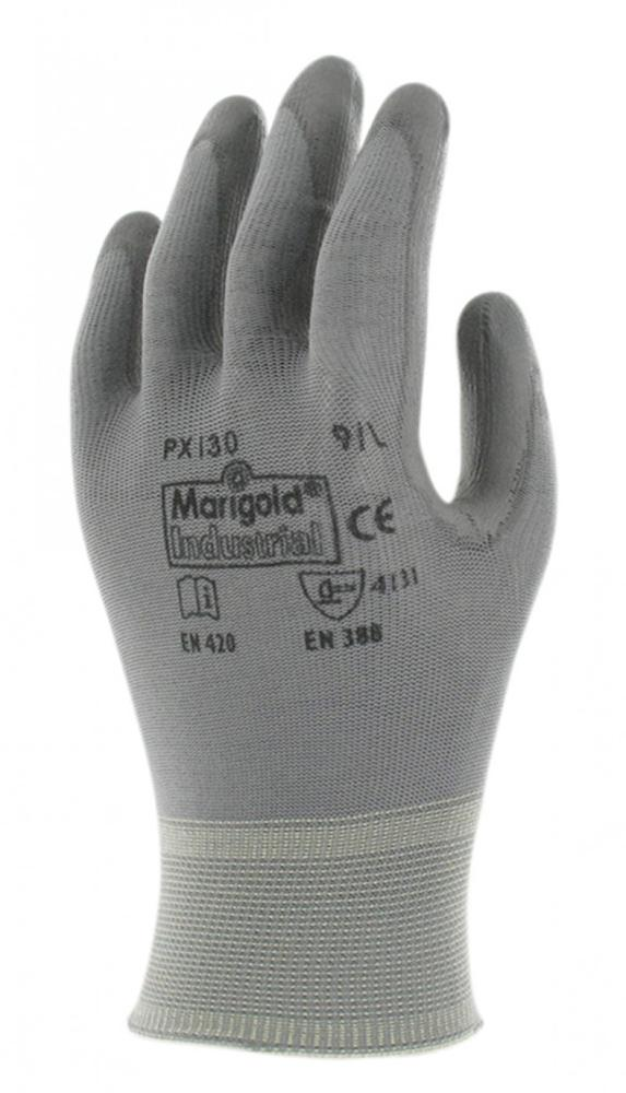 Ansell Marigold PX130 Men Work Gloves PU Coated Size 10