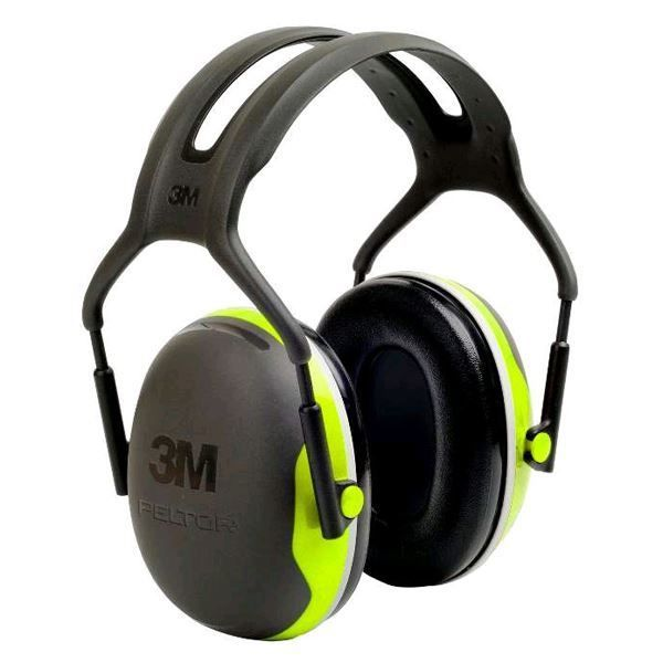 3M Peltor X4A Ear Defenders 33dB SNR Headband Green