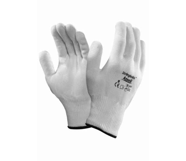 Ansell 76-160 Stringknits Natural Cotton Light Weight Gloves