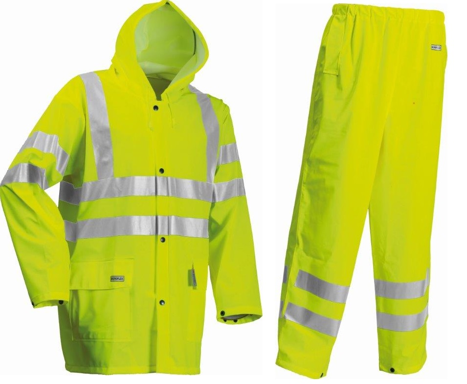 Lyngsoe Rain Protection HI VIS Yellow Jacket & Trouser Set LR552