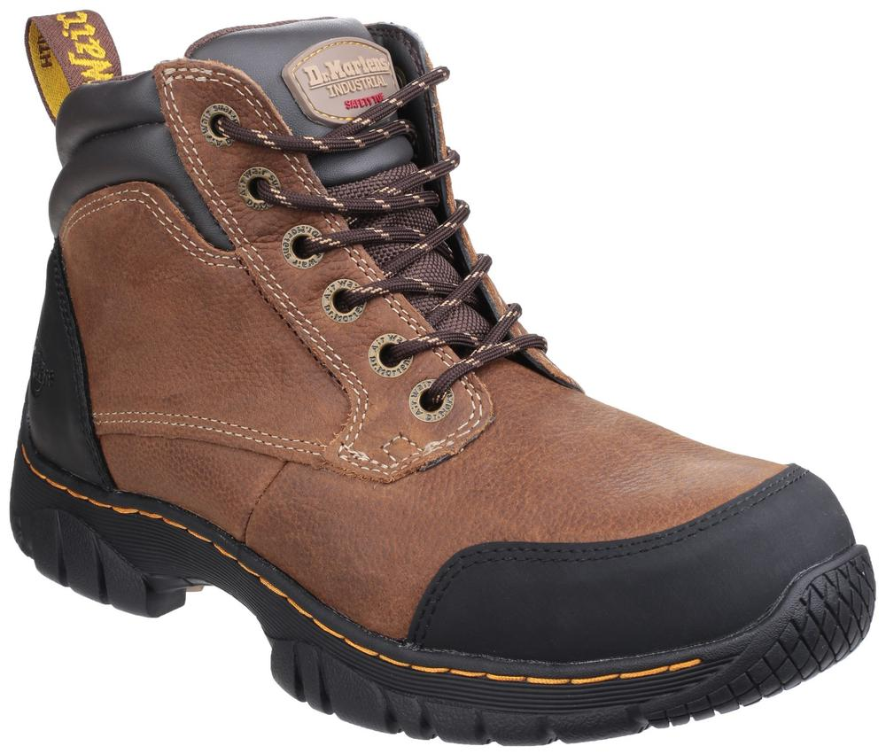 Dr Martens Riverton SB Lace up Hiker Steel Toe Cap Safety Boot Brown