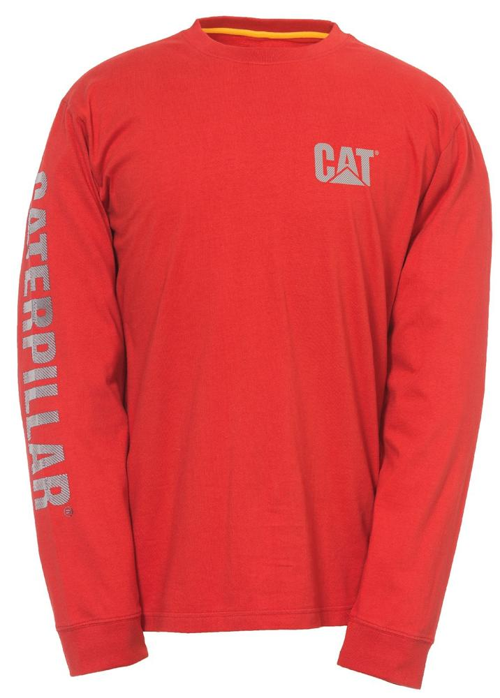 CAT Apparel 1510317 Custom Banner Long Sleeve T-Shirt Red