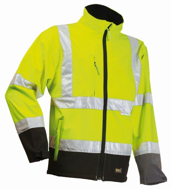 Lyngsoe FOX471 Microflex Windproof Waterproof Breathable Hi Vis Rain Jacket