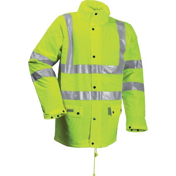 Lyngsoe Microflex FR Hi Vis Yellow Winter Rain Jacket FR LR3456 Yellow