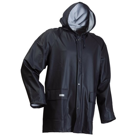Lyngsoe Microflex Hooded Raincoat LR48-03 Navy