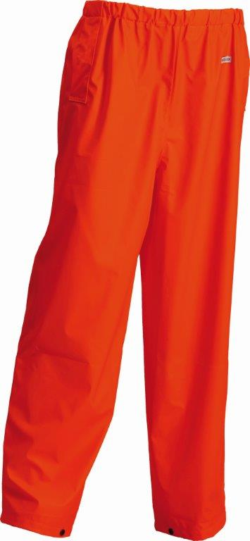 Lyngsoe Water Repellent Trousers HI VIS Orange Waist Flex Microflex LR41-05