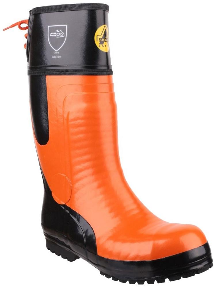 Amblers Safety FS992 Chainsaw Safety Boot Orange-Black Sizes UK 7 - 12