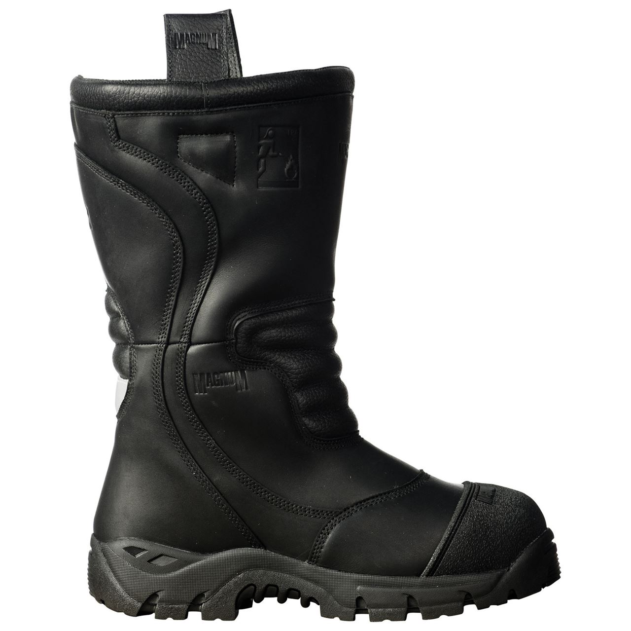 86d1d34ac65215 Magnum Pro Bunker Fireman Unisex Boot with Fire Retardant Leather