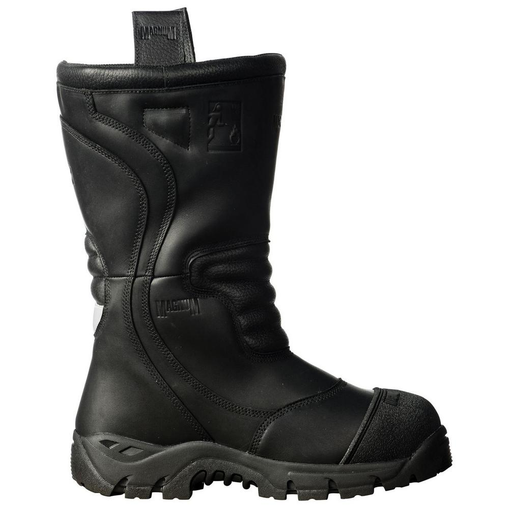 Magnum Pro Bunker Fireman Unisex Boot with Fire Retardant Leather