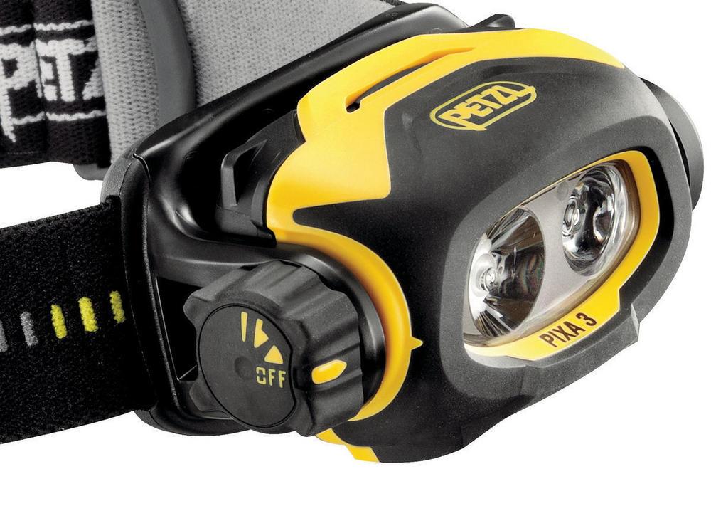 Petzl Pixa 3 Atex Led Head Torch Waterproof Dual Beam