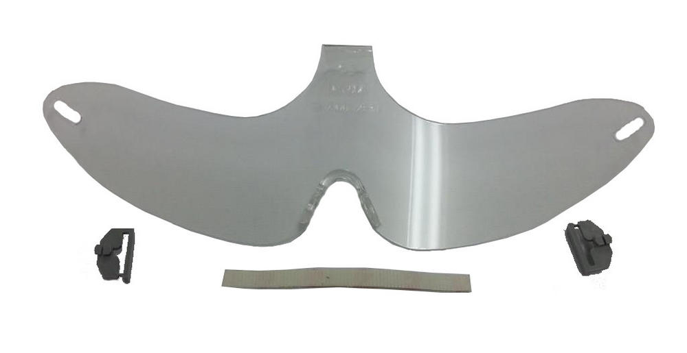 MSA Retractable Stow-Away Visor 10002674 Clear Coated Antifog