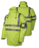Mullion 1MJ3 Dock Worker Waterproof Thermal Hi Vis Jacket