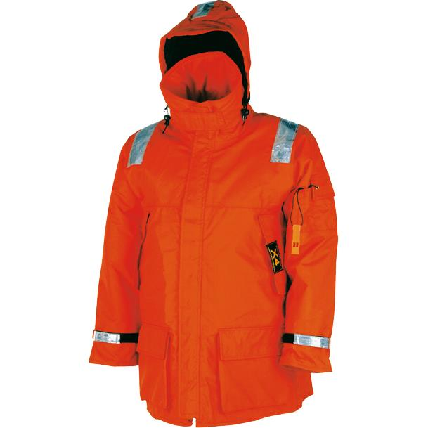 Mullion 1MJ4 Aquafloat Waterproof Marine Hi Vis Floatation Jacket, Size - XL