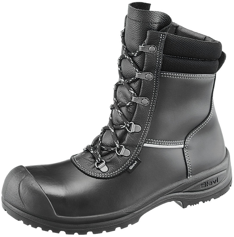 Sievi Solid XL S3 Side Zip Safety Boots,Waterproof, ESD, UK 5-12 Black Leather