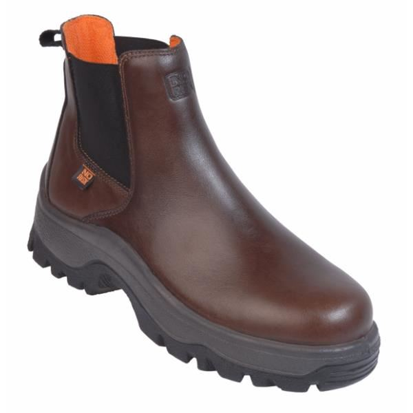 No Risk Steel Toe Cap Full Grain Leather Denver S3 Dealer Safety Boot Brown