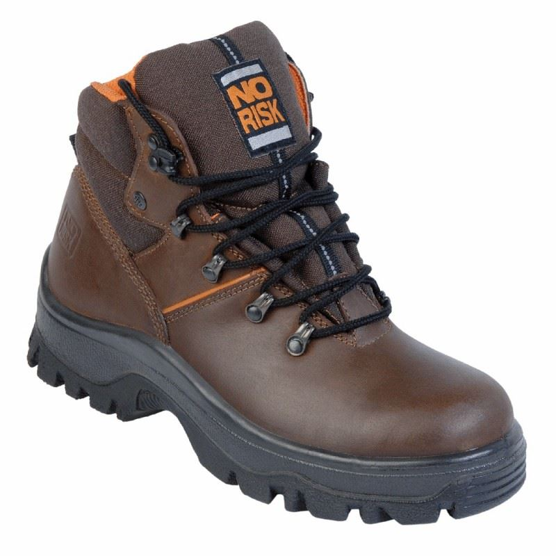 No Risk Parker S3 Brown Steel Toe Safety Boot