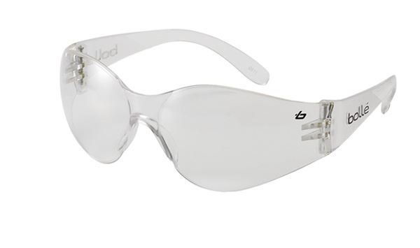 3a10b414535b Bolle Bandido Wraparound Safety Glasses Clear Lens Safety Glasses EN166