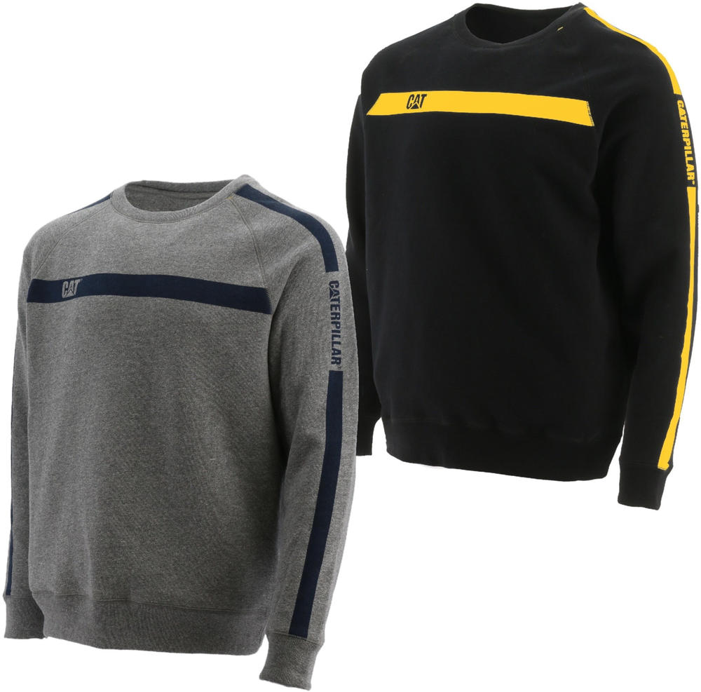 Caterpillar 1910100 Icon Stripe Crew Neck Sweatshirt