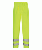 Orbit HVT01 Hawk Waterproof Hi Vis Yellow PU Coated Rain Over Trousers