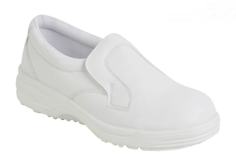 Orbit Hygiene Steel Toe White Slip On S2 Safety Shoe 305