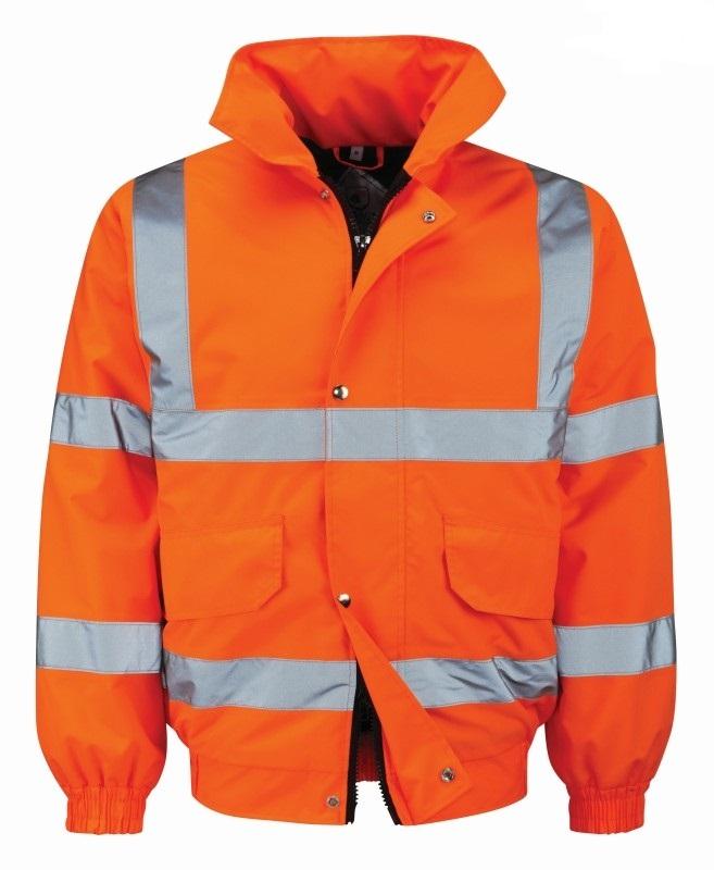 Orbit Orange Hi Vis Bomber Jacket BALAN