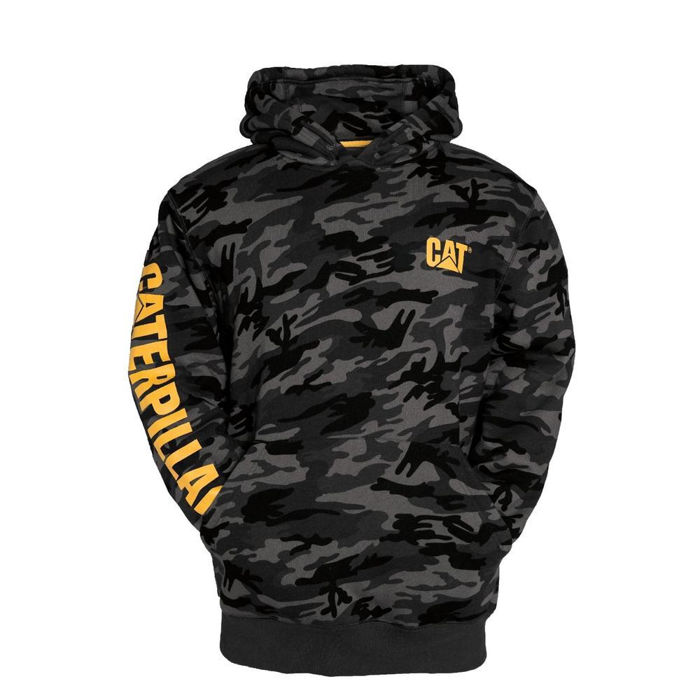 Caterpillar C1910709 Trademark Banner Men Hooded Sweatshirt