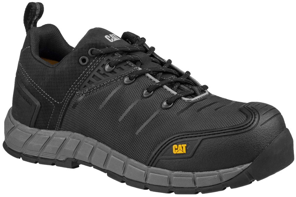 CAT Byway Metal-Free Composite Toe Cap S1-P Safety Trainer Shoes Black