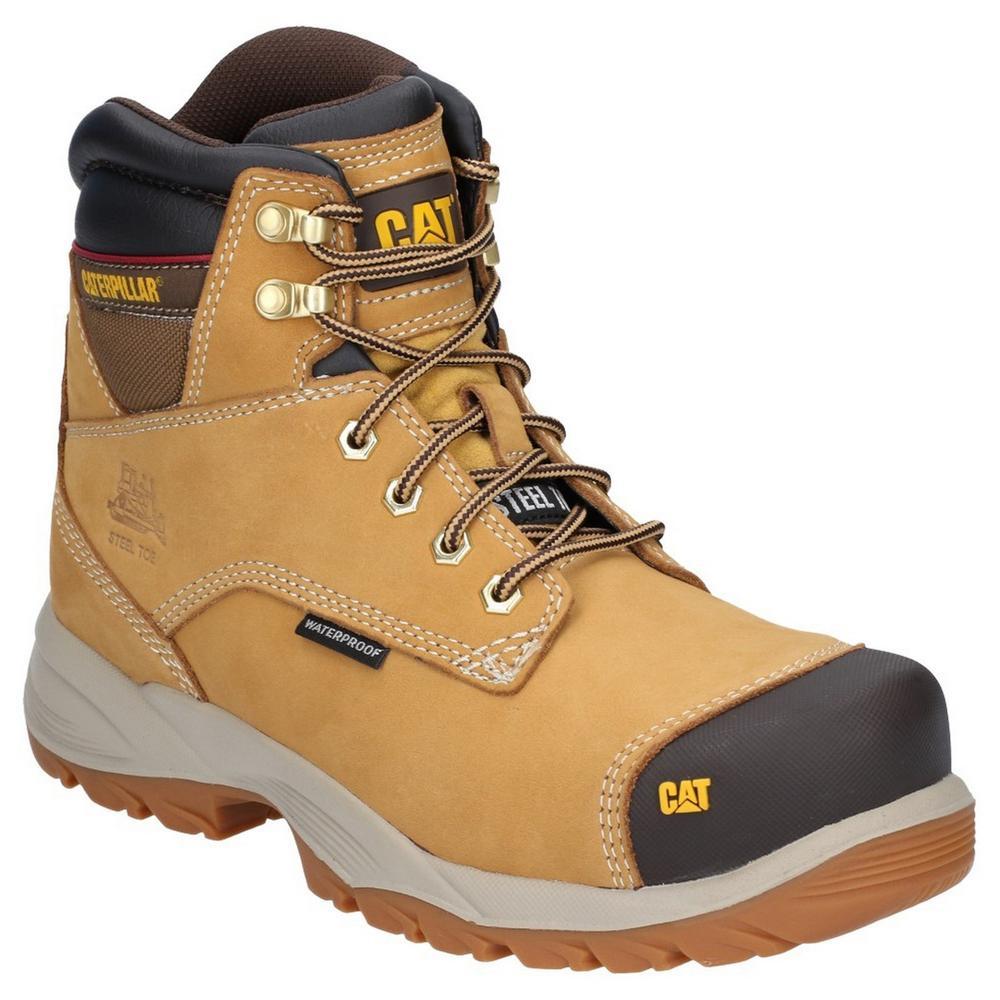 Caterpillar P716167 Spiro Men Safety Work Boots Waterproof Honey