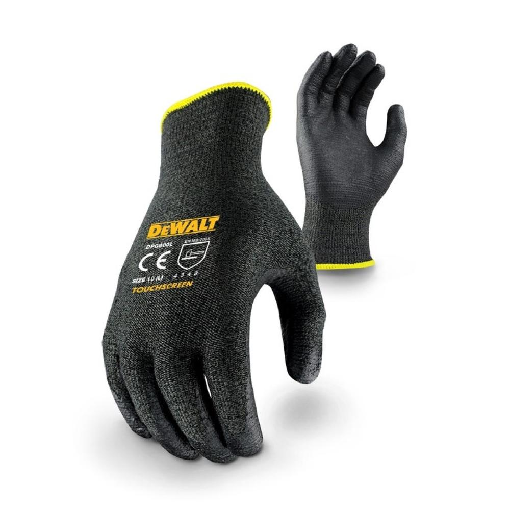 DeWALT DPG800L Touchscreen Work Gloves Cut 3 Resistant Large