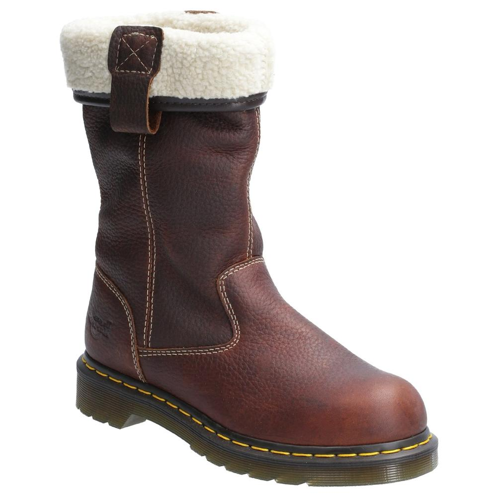 Dr Martens Belsay Ladies Safety Rigger Boots Lined Teak