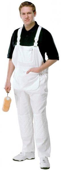 Painter's White Knee Pad Pockets, 100% Cotton Bib & Brace PC187