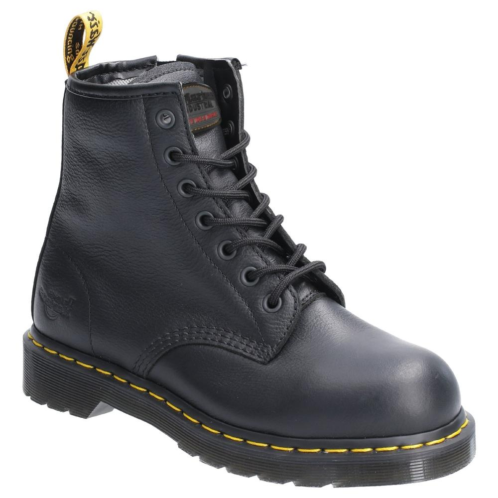 Dr Martens Maple Zip Ladies Safety Work Boots Side Zip Black