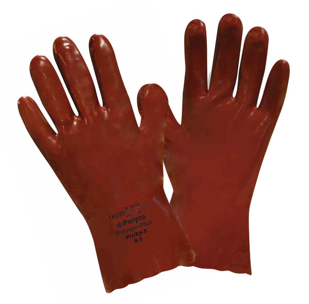Polyco Polygen Plus? Red PVC Chemical Resistant Gauntlets 35cm