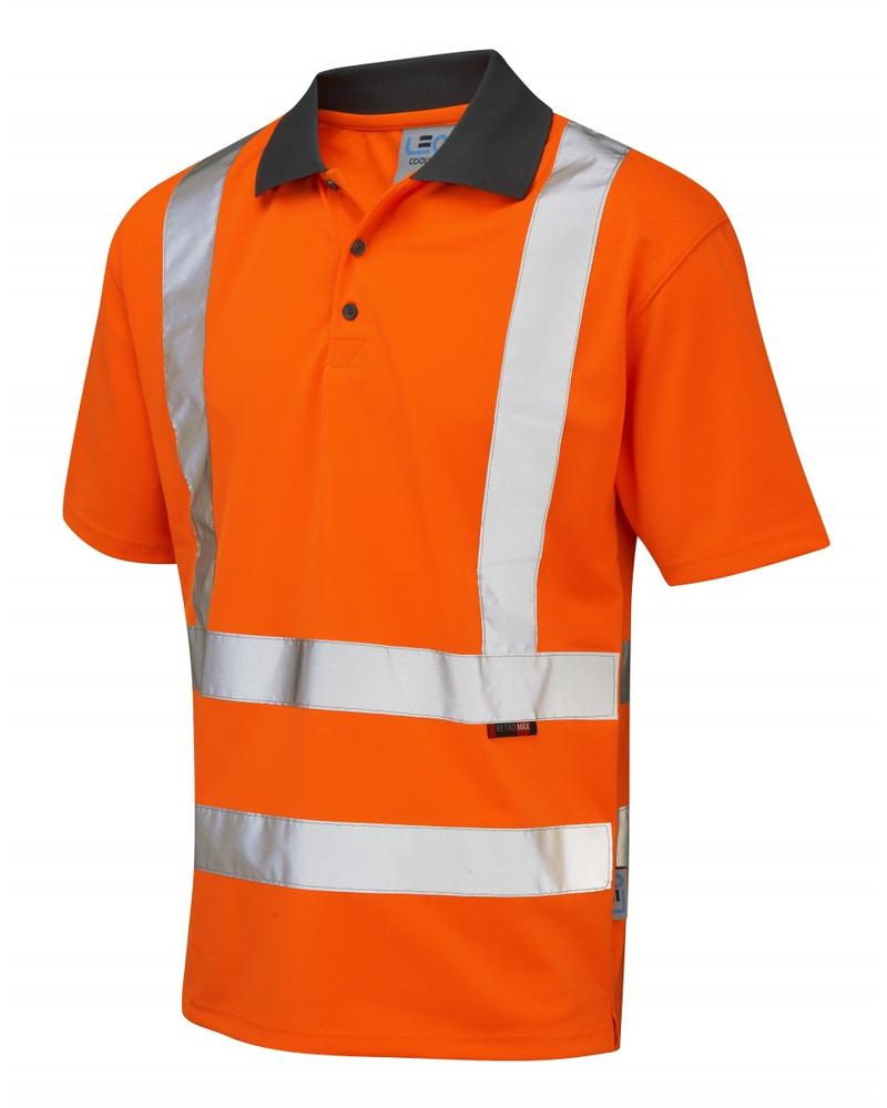 Leo Workwear Rockham Hi Vis Polo Shirt Orange