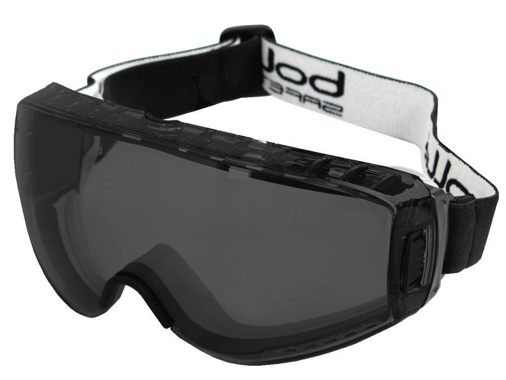Bollé PILOPSF Pilot Safety Goggles Platinum® Coating Smoke Lens